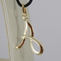 18K YELLOW GOLD PENDANT CHARM INITIAL LETTER A, MADE IN ITALY 1.0 INCHES, 25 MM image 2