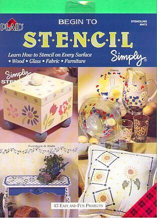 Plaid Begin to Stencil Paint Book