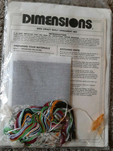 Dimensions Needlepoint kit 9052 Crazy Quilt Ornaments Christmas  - $12.00