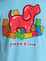 Puppie Love Rescue Dog Adult Unisex Short Sleeve Cotton Tee,Gummie Pup image 2
