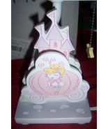 Disney Princess Cinderella Nursery Lamp Plays Rockabye Baby New Rare  - $55.00