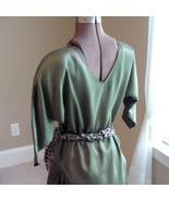 Vintage handmade olive green tunic skirt set. Petite.  - $15.00