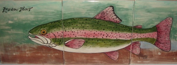 Trout tile painting
