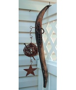 Old rustic Farm Decoration Horse Hame rusty wire star  uniqu - $35.00