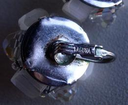 "Vintage Crystal Cluster Clip on ""Laguna"" Earrings Signed image 3"