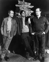 M.a.s.h Alan Alda Mike Farrell David Ogden-Stiers next to sign post 16x2... - $69.99