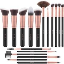 Emaxdesign Makeup Brushes 17 Pieces Premium Synthetic Foundation Brush P... - $13.57