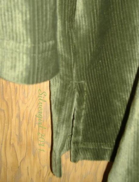 Shimmery Green Velvety Soft Corduroy Blouse SZ M/L