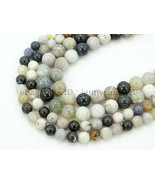Natural Parral Dendrite Agate Gemstone Round Spacer Beads 15.5'' 4mm 6mm... - $8.60+