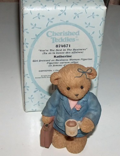Cherished teddies girl business woman