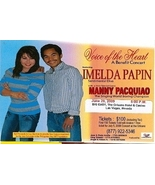 Manny Pacquiao / Imelda Papin Promo Card - $3.95
