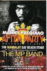 The Official Manny Pacquiao After Party 11 14 09 card