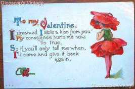 1915 PC Valentine's Day, Sweet Poppy Girl - $5.00