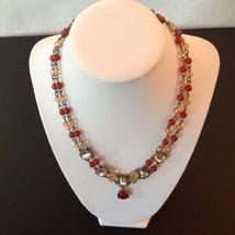 Avon Necklace Bracelet Earrings 3 Piece Set Signed Colored Stones 2002 Vintage image 2