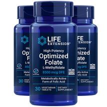 L-Methylfolate 8500mcg High Potency Optimized Folate Life Extension 3X30 Pills - $38.39