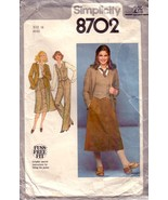 VTG Simplicity 8702 Pants, Skirt, Jacket, and Vest sz 16 - $12.00