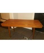 "Mid Century Danish Modern 36"" Teak/Beech Wood Slat Bench End Table/Coffee Table - $262.35"