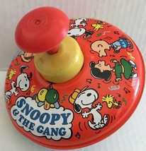 Vtg Antique Ohio Art Retro Snoopy and the Peanuts Gang Metal Spinning To... - $44.54