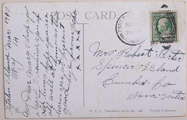 1910 Postcard Sweetheart Days Greetings Bird & Roses
