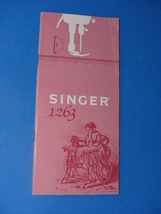 SINGER MODEL 1263 INSTRUCTION MANUAL - $25.00