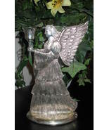 Candle Holder Angel Silverplated 9 x 6 - $19.99