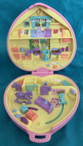 Vintage 1994 Polly Pocket Perfect Playroom Nursery Quilted Pink Heart Ca... - $29.69