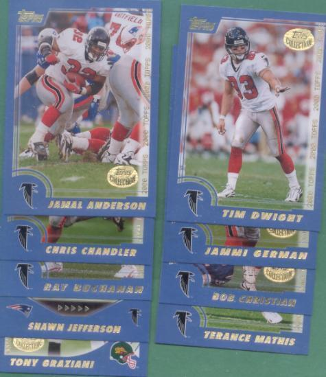 2000 Topps Atlanta Falcons Football Team Set
