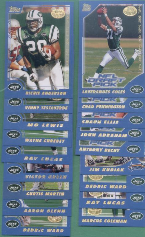 2000 Topps New York Jets Football Set