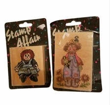 New Lot of 2: Raggedy Ann and Andy Wood Mounted Rubber-stamps (F) - $19.99