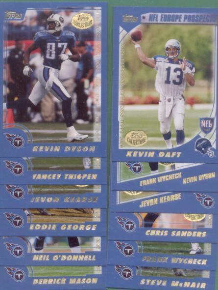 2000 Topps Tennessee Titans Football Team Set