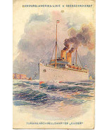 Hamburg Amerika Line Vintage 1908 German Vintage Post Card  - $12.00