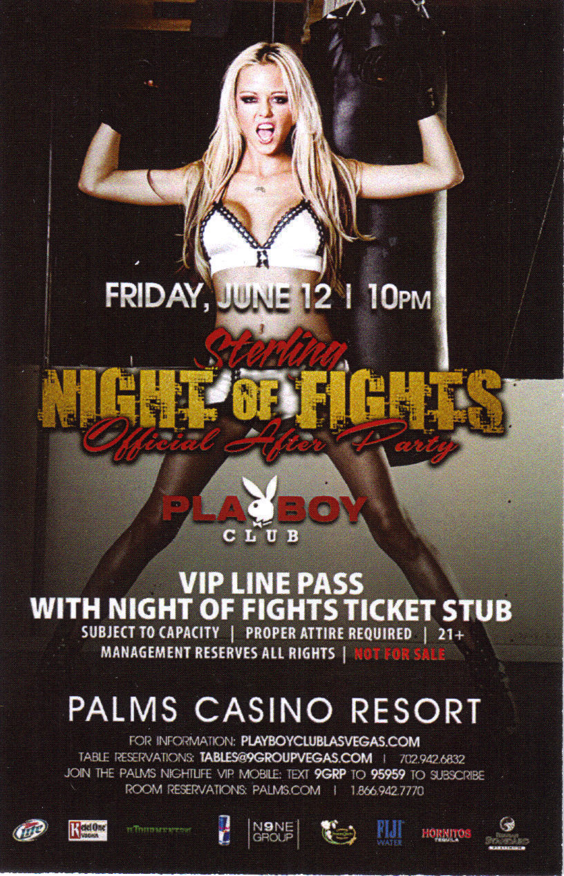 STERLING Night of Fights Official After Party PLAYBOY Club