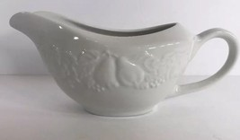 Fruit de Blanc Tabletops Unlimited Gravy Boat Embossed Fruit (1995) - $14.84
