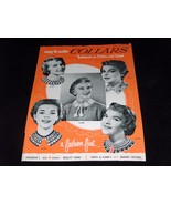1954 Chadwicks Yarns Coats & Clarks Crochet Easy To Make Collars Free Le... - $9.40