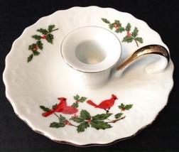 Lefton China Christmas Cardinal Candle Holder - $9.89