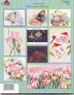 Bouquet of Watercolor Flowers Painting Book