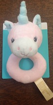 """Dan Dee Pink Unicorn Plush Baby Lovey Rattle 6"""" x 3.5"""" New with Tags - $8.86"""