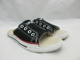 Converse Chuck Taylor All Star Cut Away Black Slide Sandals Women's Size 6 - $55.78