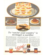 1946 Libby's Peaches Canned Fruits pie print ad - $10.00