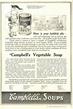 1937 Campbell's Vegetable Soup list of 21 kind print ad - $10.00