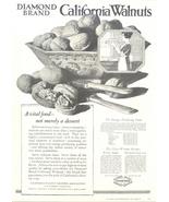 1943 Diamond Brand California Walnuts print ad - $10.00
