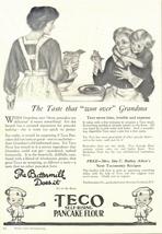1936 Teco Self-Rising Pancake Flour print ad - $10.00