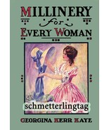 Flapper Era MILLINERY Book Hat Making Make Hats 1926 Roaring 20s Milline... - $14.99
