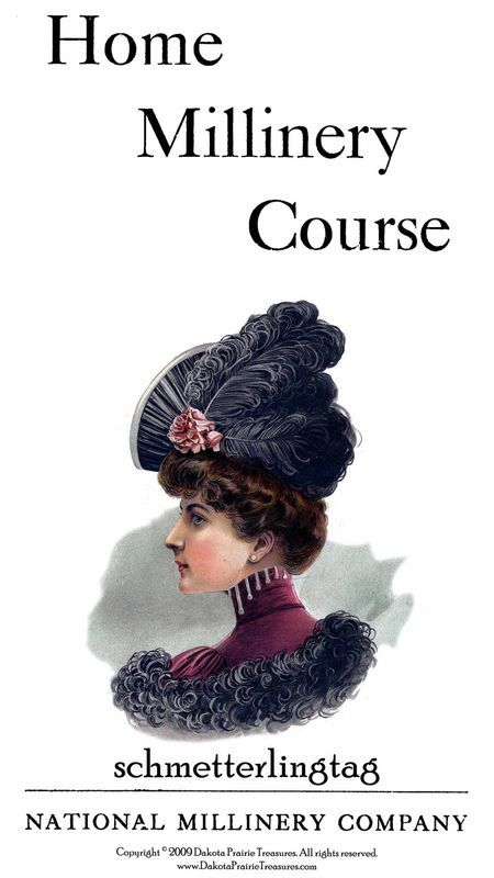 Gibson Girl Era Millinery Book Make Hats Hat Making 1909 Milliner DIY Guide