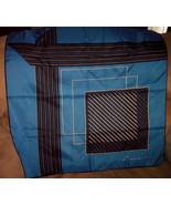 "Vintage ""Leonardi"" Scarf Blue Black & White - $8.95"