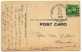 1909 Middlebranch, NE Discontinued/Defunct Post Office (DPO) Postcard - $9.95