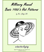 Millinery Book Hat Making Make RETRO Hats Patterns 1953 Milliner Guide P... - $12.99