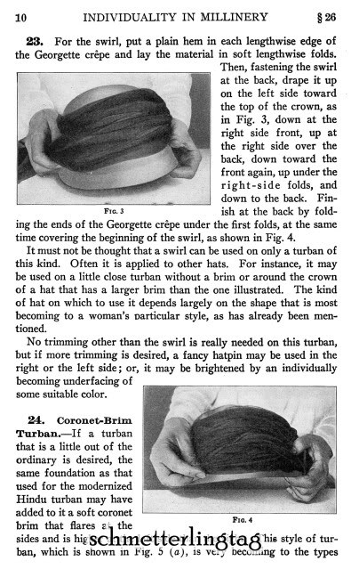 Millinery Book Make Flapper Era Hat Styles Making Hats 1920 Milliner DIY Guide