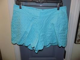 Crown & Ivy Light Blue Textured Scallop Hem Pattern Size 10 Women's EUC - $21.87