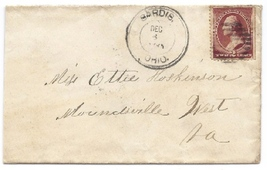 c1881 Sardis, OH Vintage Post Office Postal Cover - $9.95
